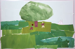 Graham Oaks student artwork of the lone oak
