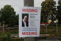 Missing poster for Mark Bosworth in Peninsula Park