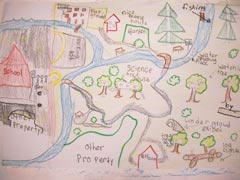 Elementary schooler's depiction of Orenco Woods Nature Park