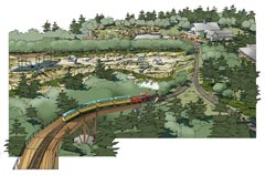 Artistic rendering of Zoo Train upgrades