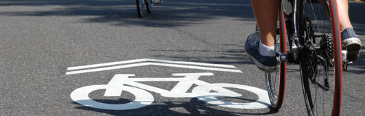 bike lane road sign top image