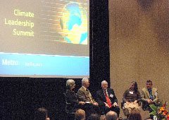 panel discussion at the Climate Leadership Summit