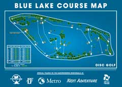 blue lake disc golf course map