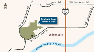 Graham Oaks locator map