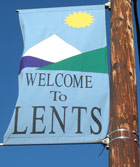 Lents banner