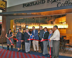 Ribbon cutting at Portland Roasting