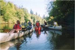 Canoeing on Tualitan