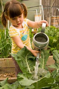 girl with watering can!