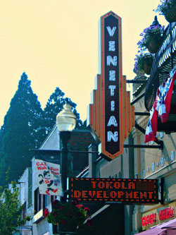 Venetian Theatre marquee