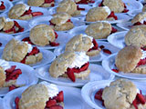 Plates of shortcake