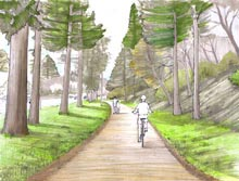 trolley trail drawing