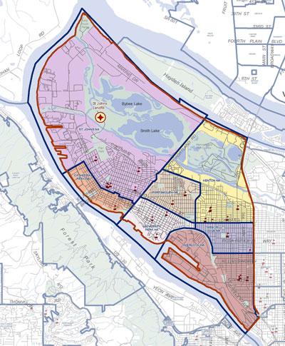 boundary of North Portland enhancement grant program area