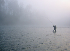 fishing on the Clackamas River