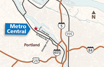 map to Metro Central transfer station