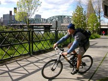 Springwater trail on the Willamette