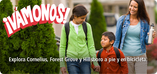 Explore Cornelius, Forest Grove and Hillsboro on foot and by bike