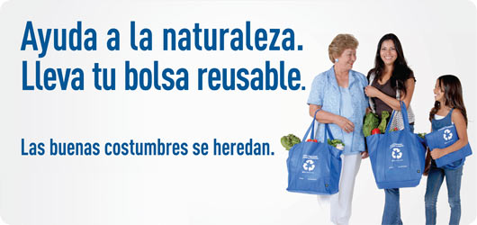 Find resources available en español about recycling and sustainable living