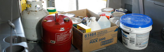 hazardous waste prepared for disposal