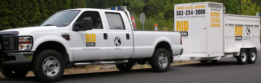 RID Patrol truck and trailer